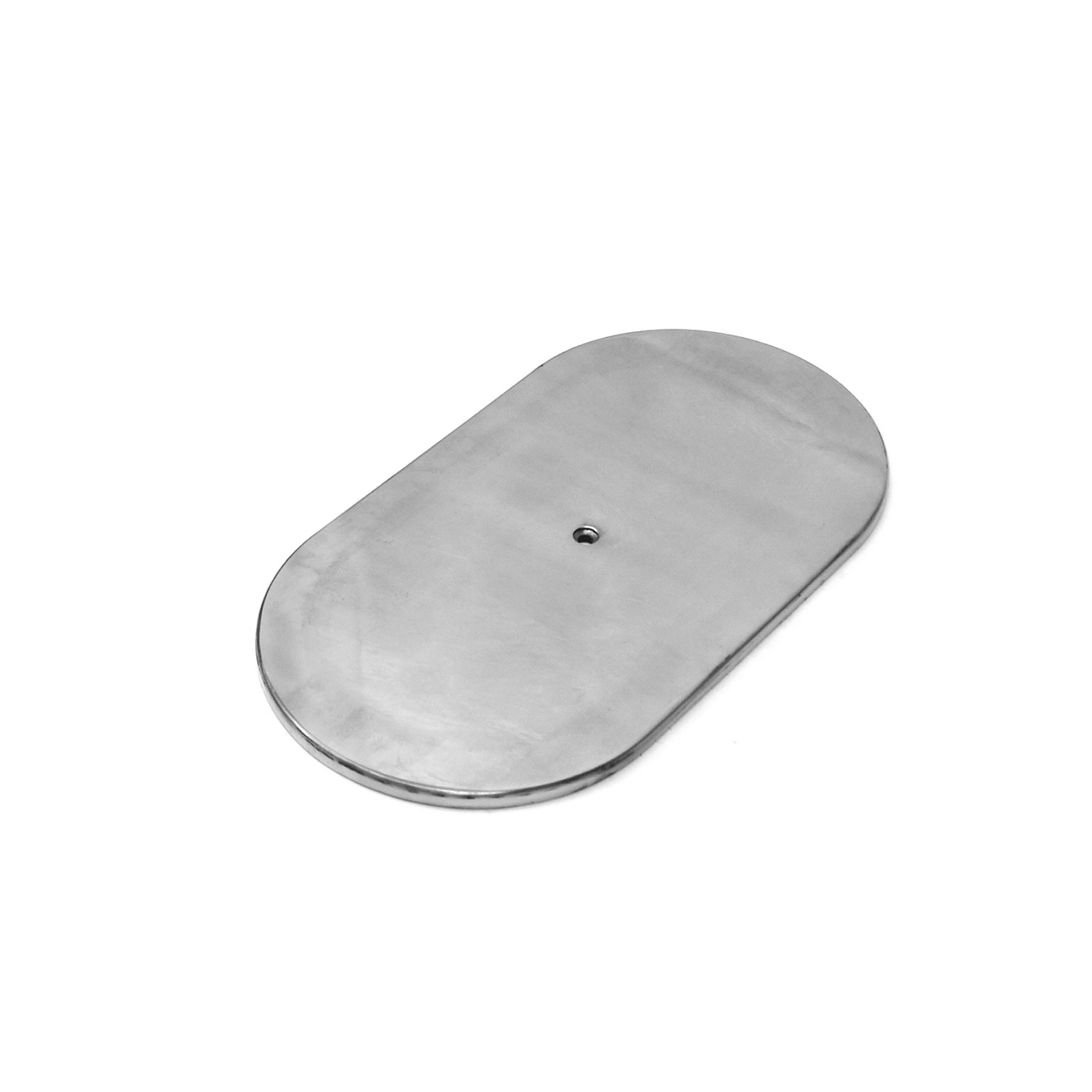 "12"" Aluminum Oval Plain Air Cleaner Top - Polished"