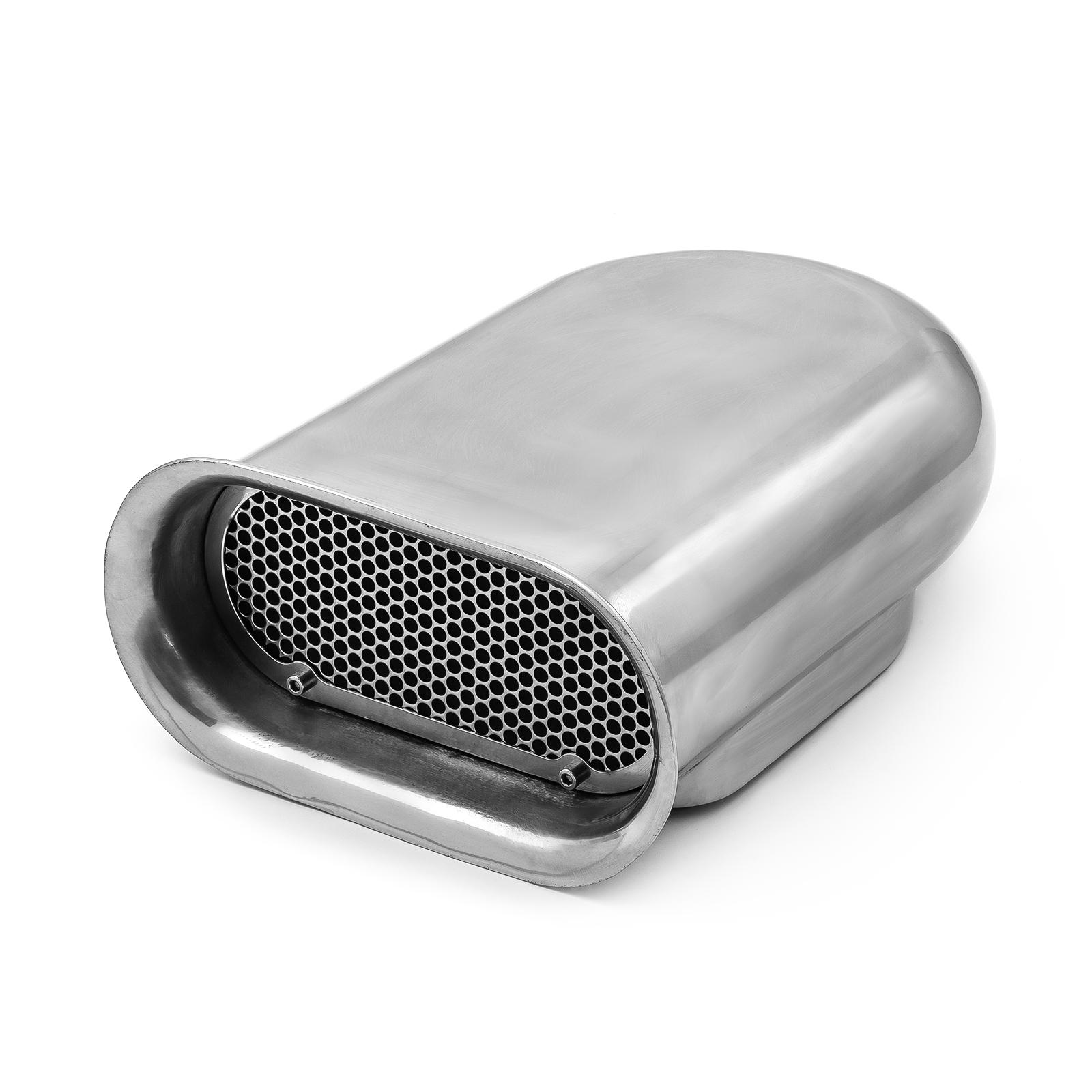 Polished Aluminum Single Carburetor Hilborn Style Hood Scoop