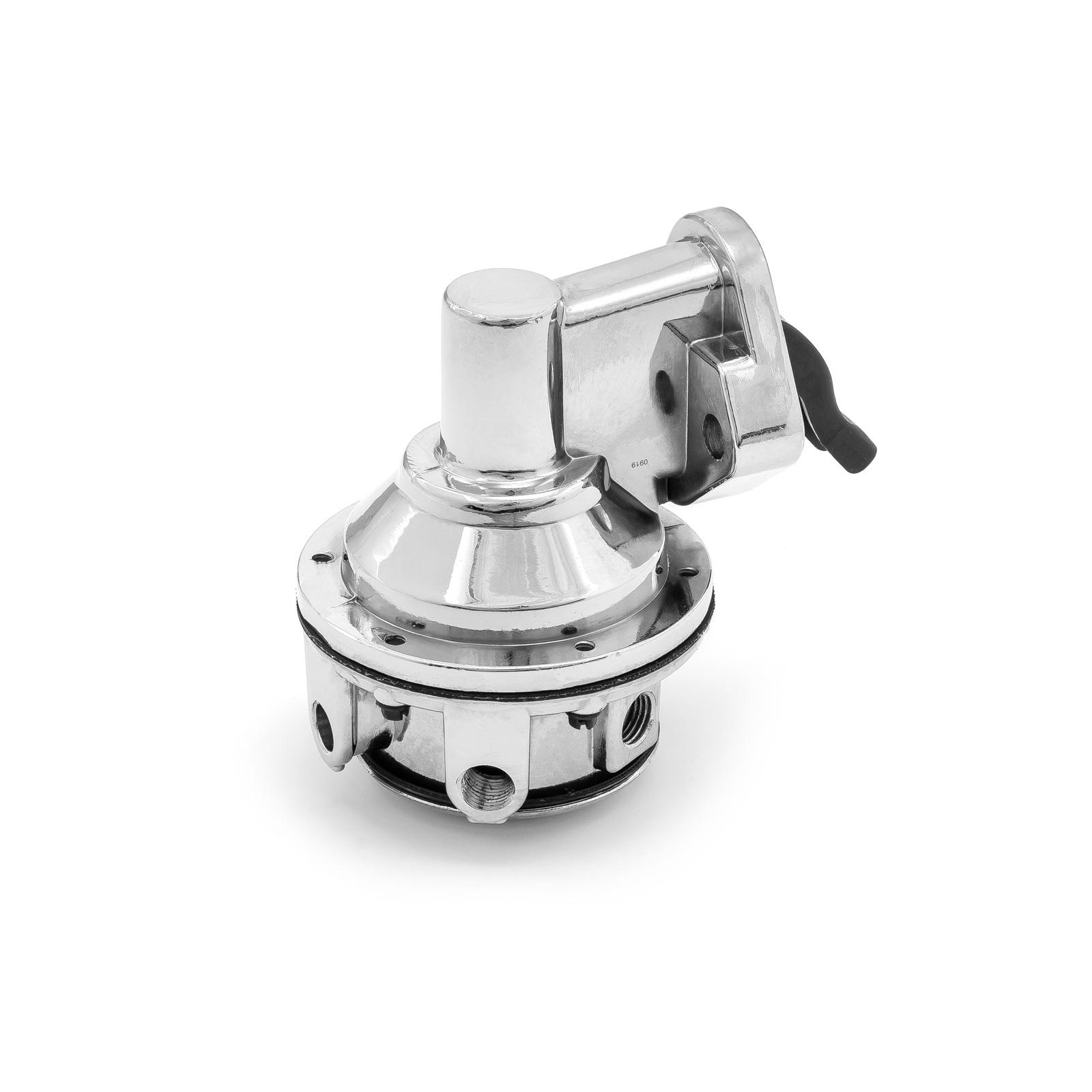 "Chevy SBC 350 High Volume Mechanical Fuel Pump Chrome 1/4"" Fitting"