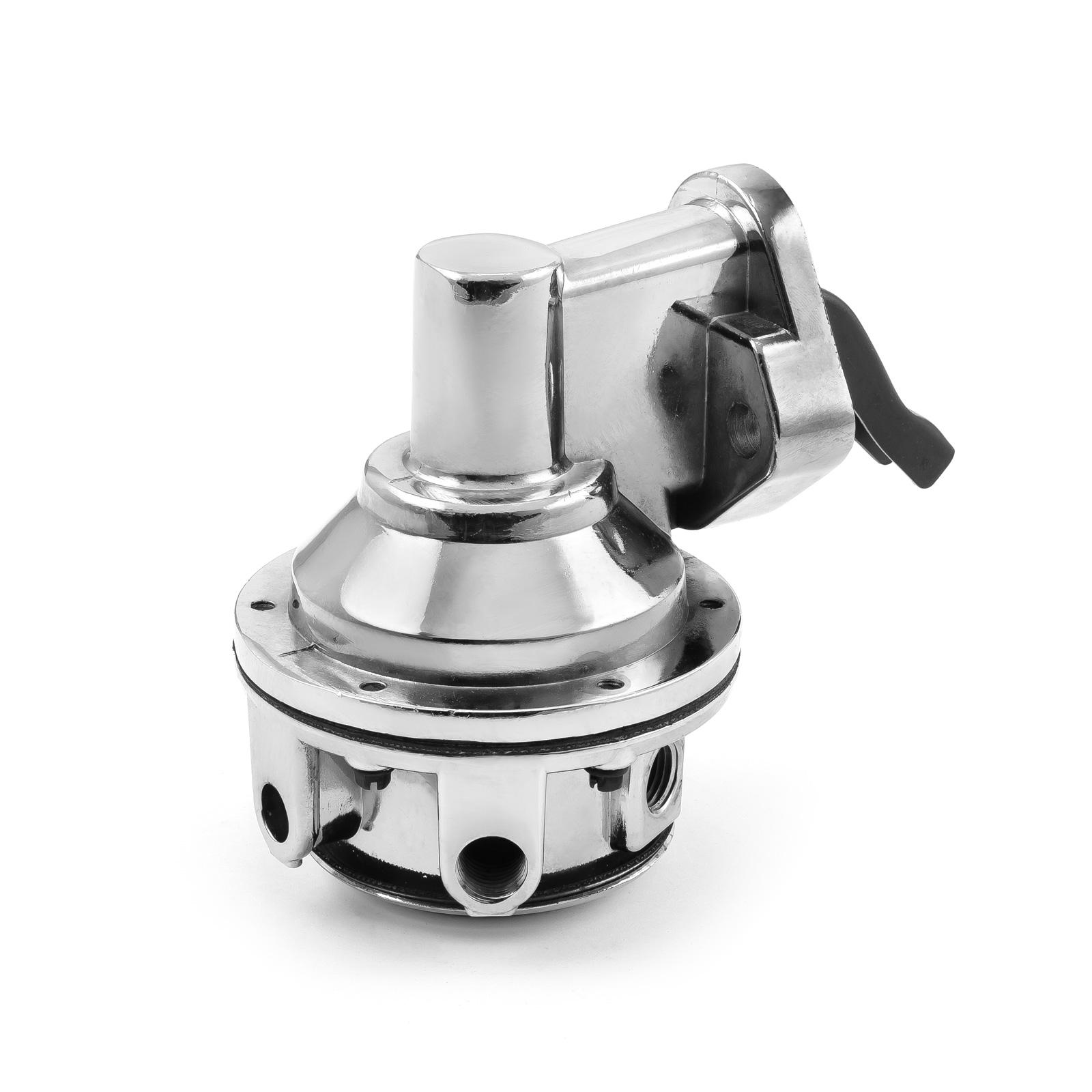 "Chevy BBC 454 High Volume Mechanical Fuel Pump Chrome 1/4"" NPT Fitting"