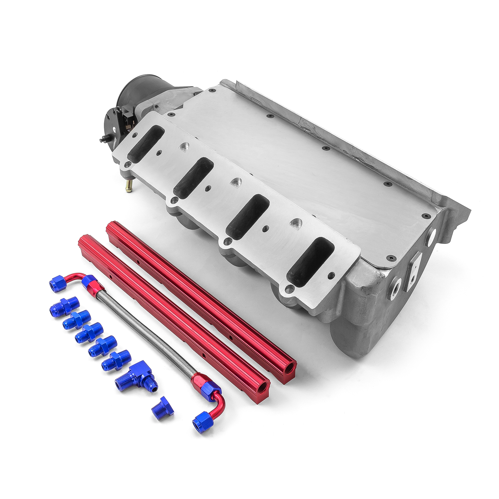 PCE® PCE148.1113 Chevy LS1 LS2 LS6 EFI Intake Manifold Satin with 92mm Throttle Body