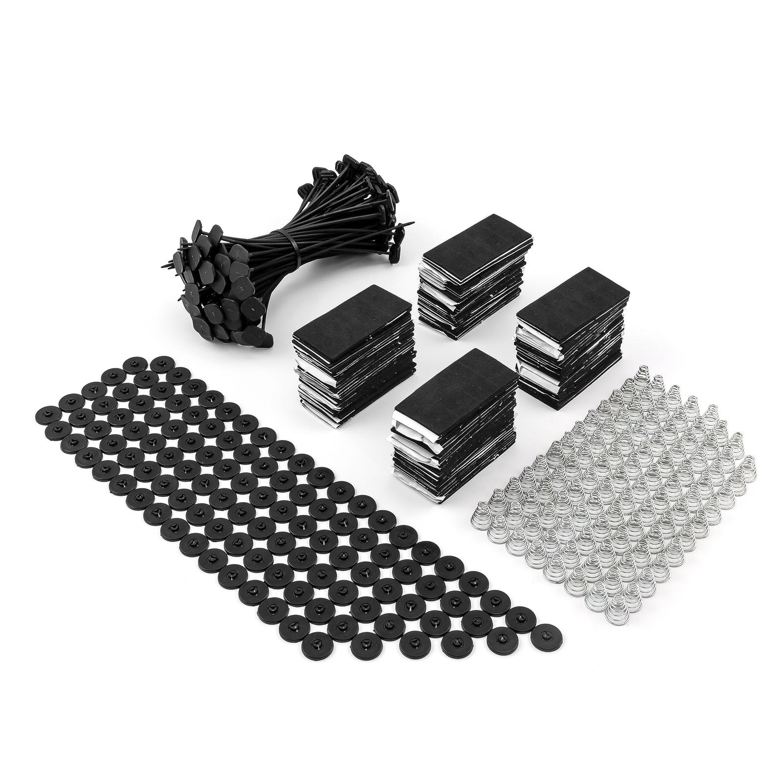 "Universal 4"" 9"" 10"" 12"" 14"" 16"" Electric Fan Install Mounting Zip Ties Kit - 100pcs"