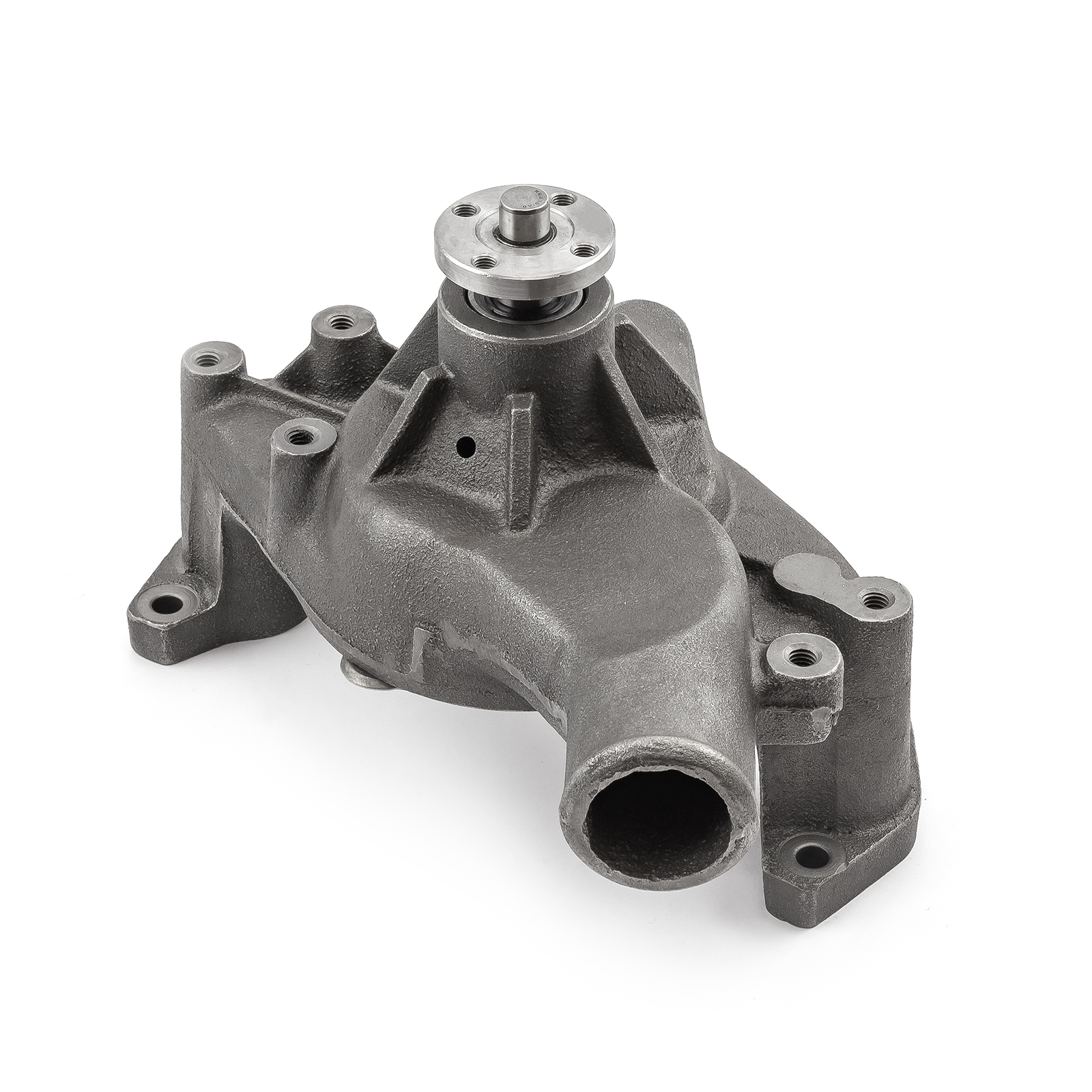 Chevy SBC 350 High Volume Cast Iron Long Water Pump Satin