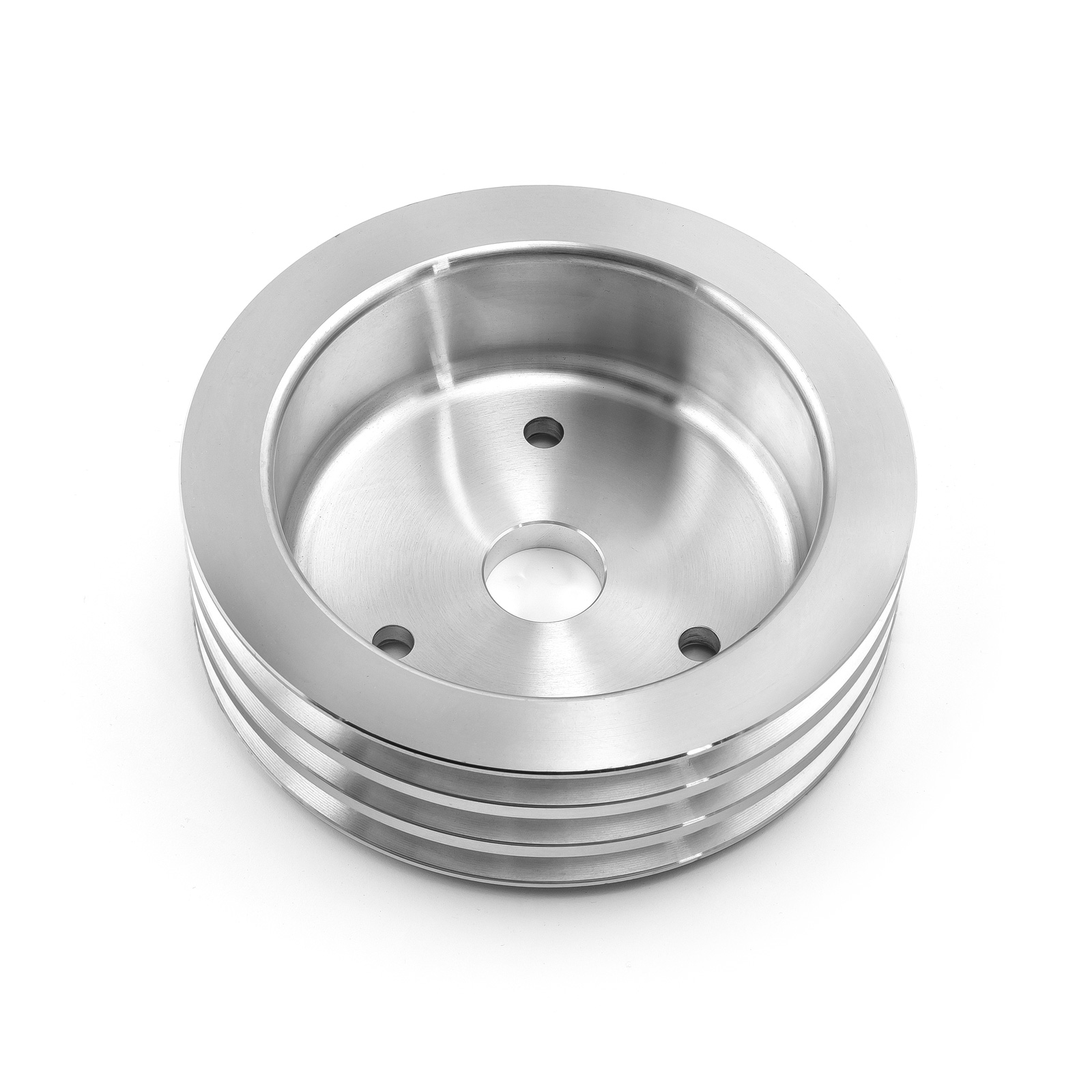 Chevy BBC 454 Billet Aluminum Short Water Pump Swp 3 Groove Crank Pulley