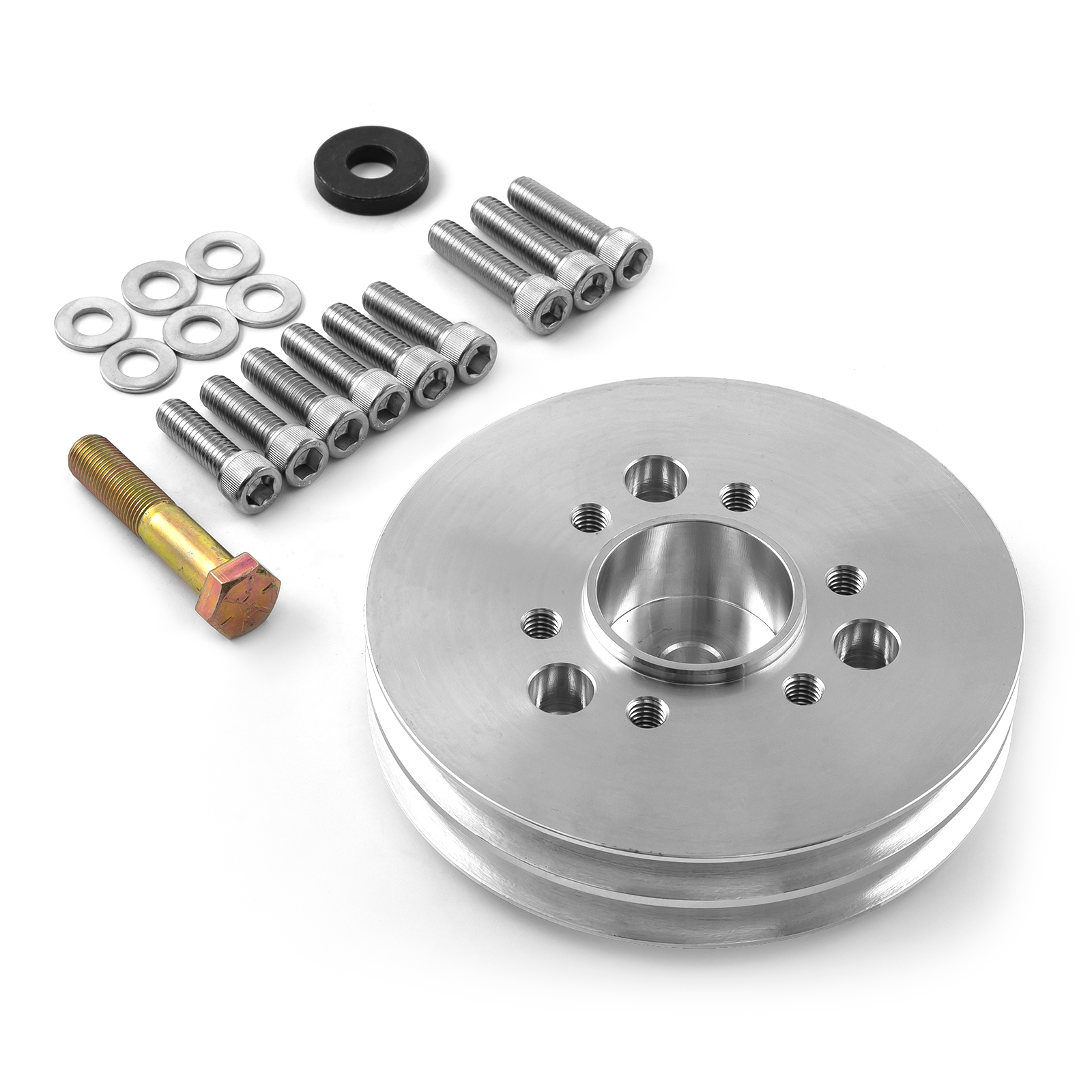 Chevy BBC 454 2V Supercharger 2 Groove Accessory Drive Pulley