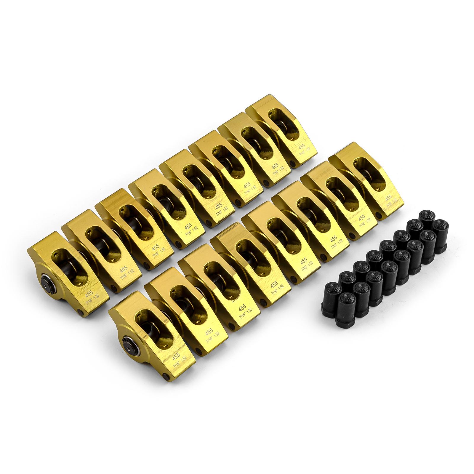 "Pontiac 265 350 400 455 1.52 Ratio 7/16"" Aluminum Roller Rocker Arms"