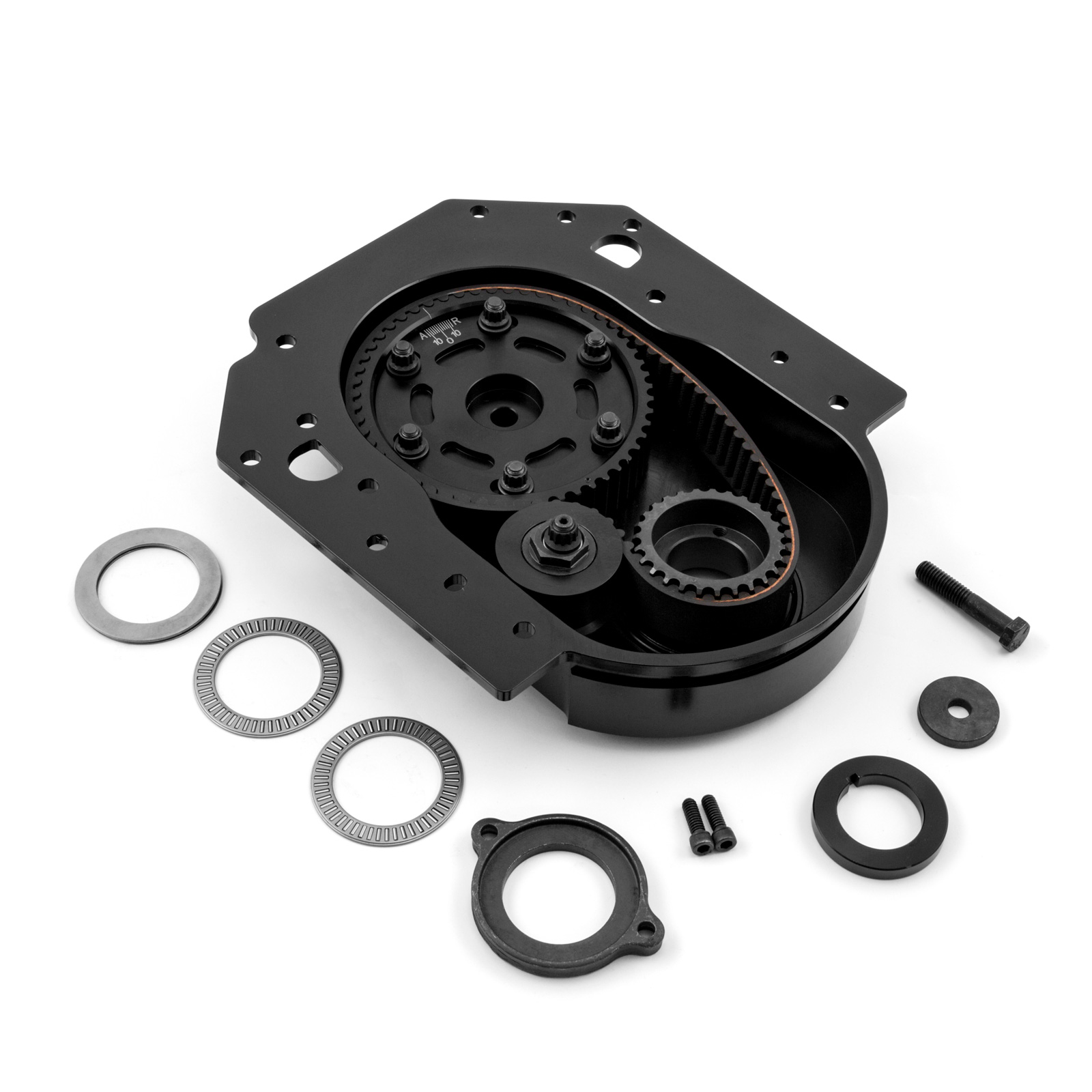 Ford 302 351C Cleveland Standard Cam Height Timing Belt Drive Kit - Black