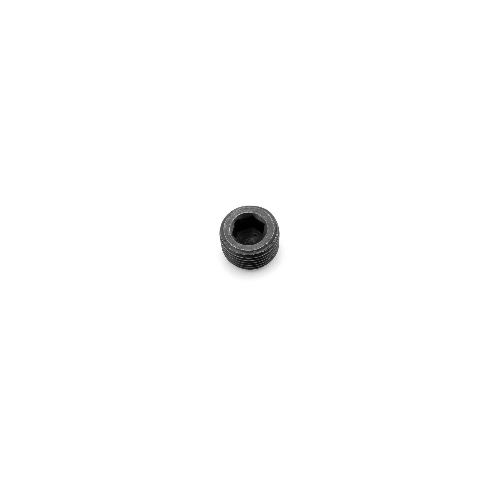 "Internal Allen Head Pipe Plug Fitting 5/8"" NPT Black Anodized"