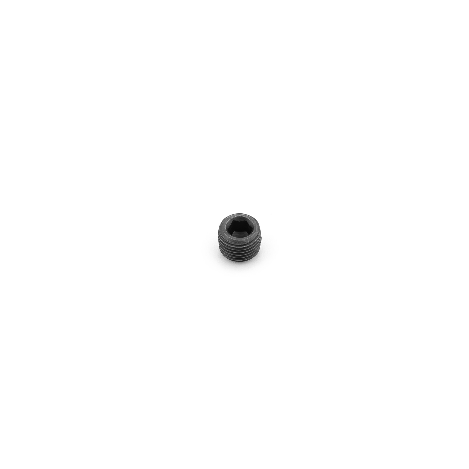 "Internal Allen Head Pipe Plug Fitting 3/8"" NPT Black Anodized"