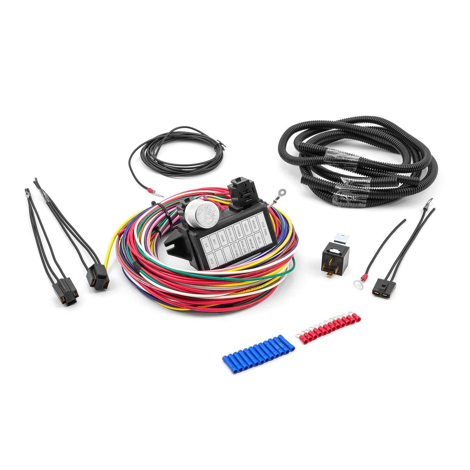 Universal 12 Circuit Wiring Harness Kit
