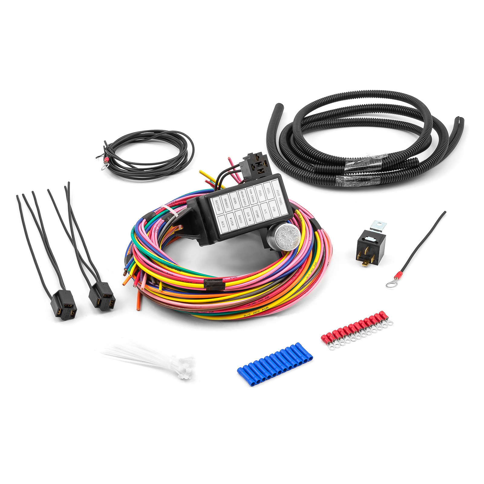 Universal 14 Circuit Wiring Harness Kit Street Rod Hot Rod Race Car