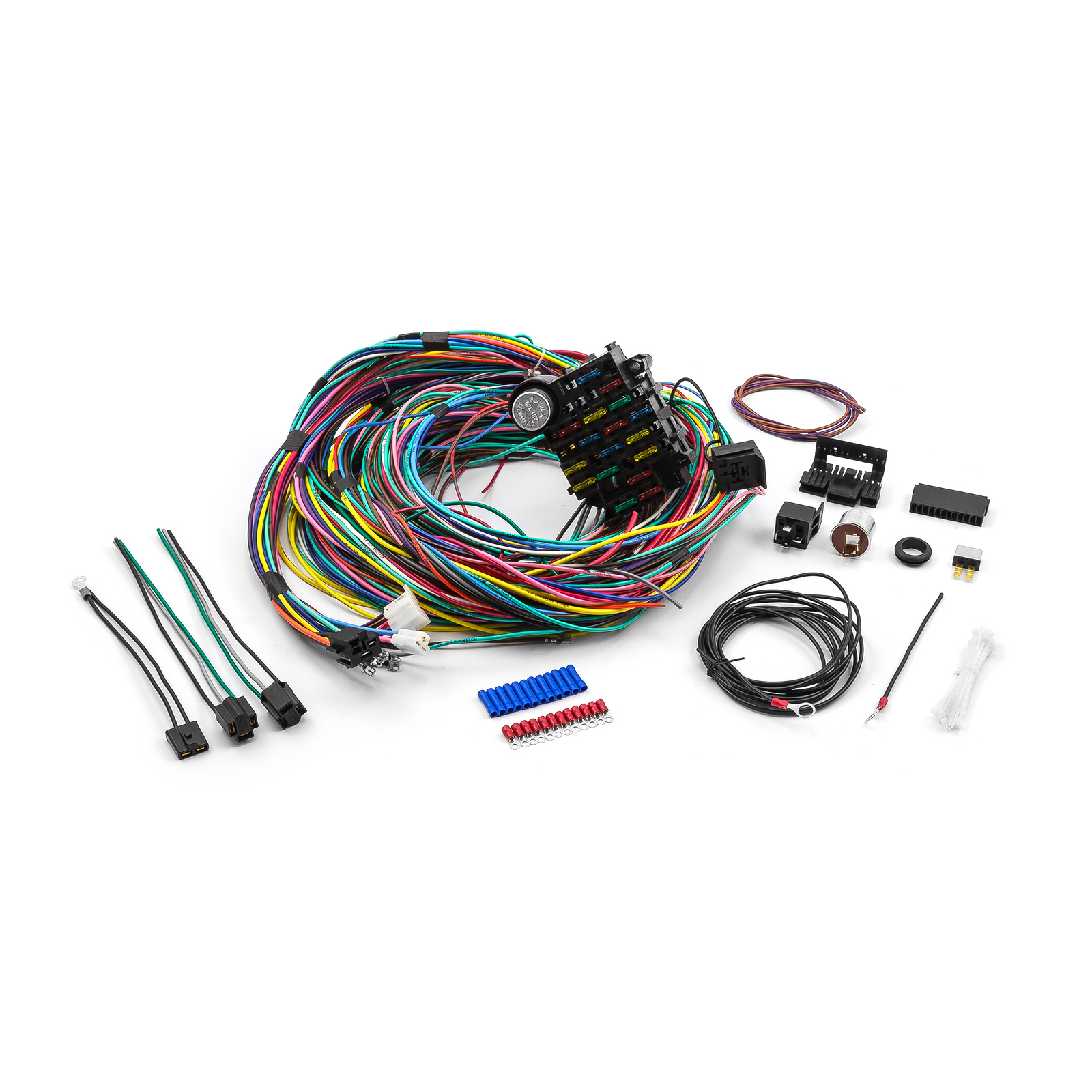 Universal 21 Circuit Wiring Harness Kit Street Rod Hot Rod Race Car