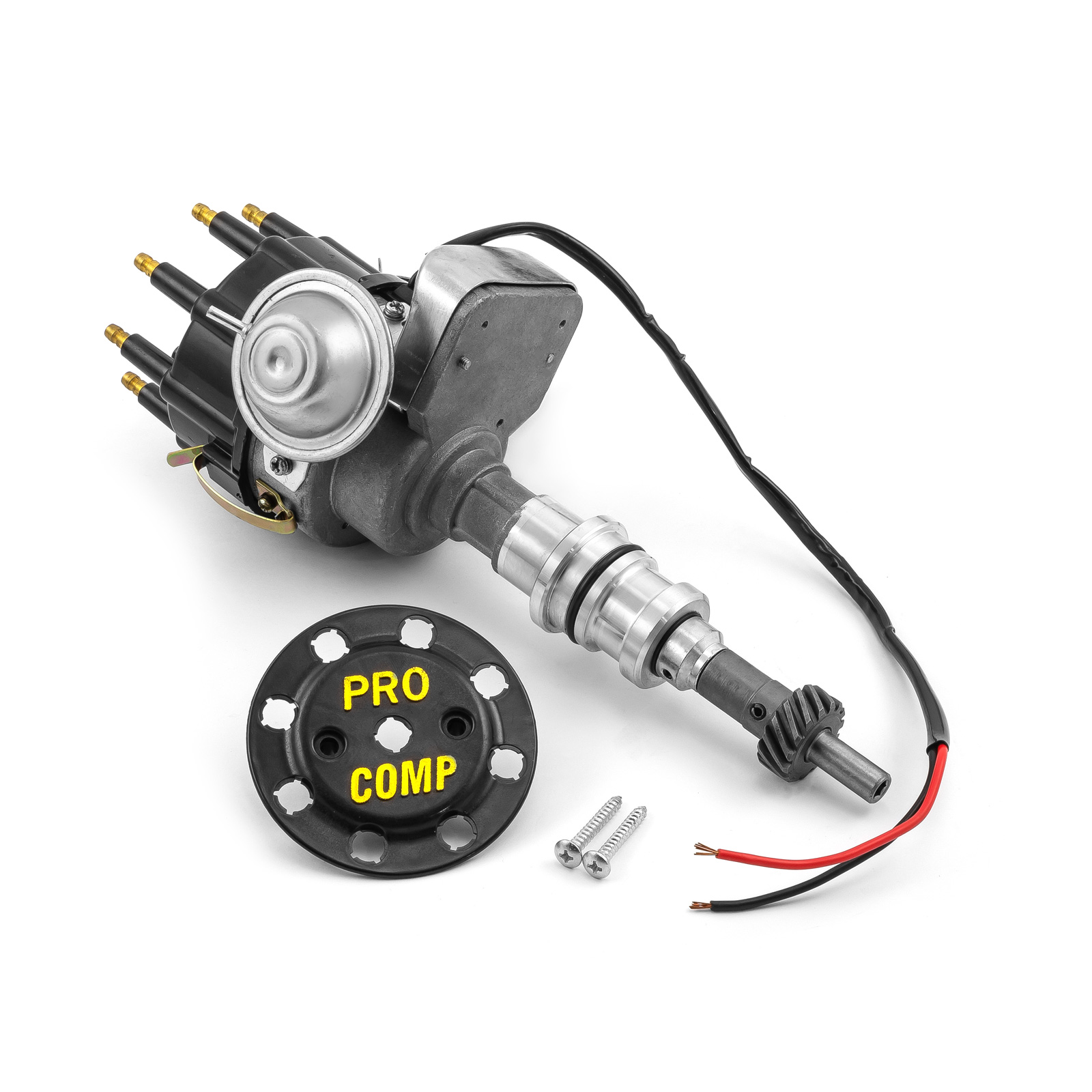 Ford SB 289 302 Windsor Ready to Run Electronic Distributor (Vacuum) - Black Cap