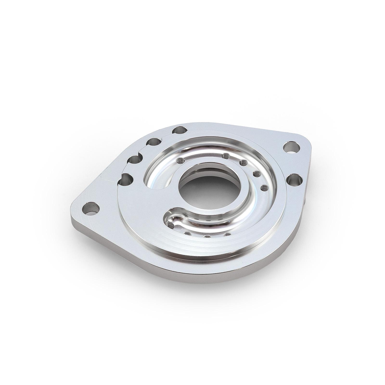 Ford SB 302 351 Windsor Cleveland 2 Bolt Replacement Starter Mounting Block - Blue