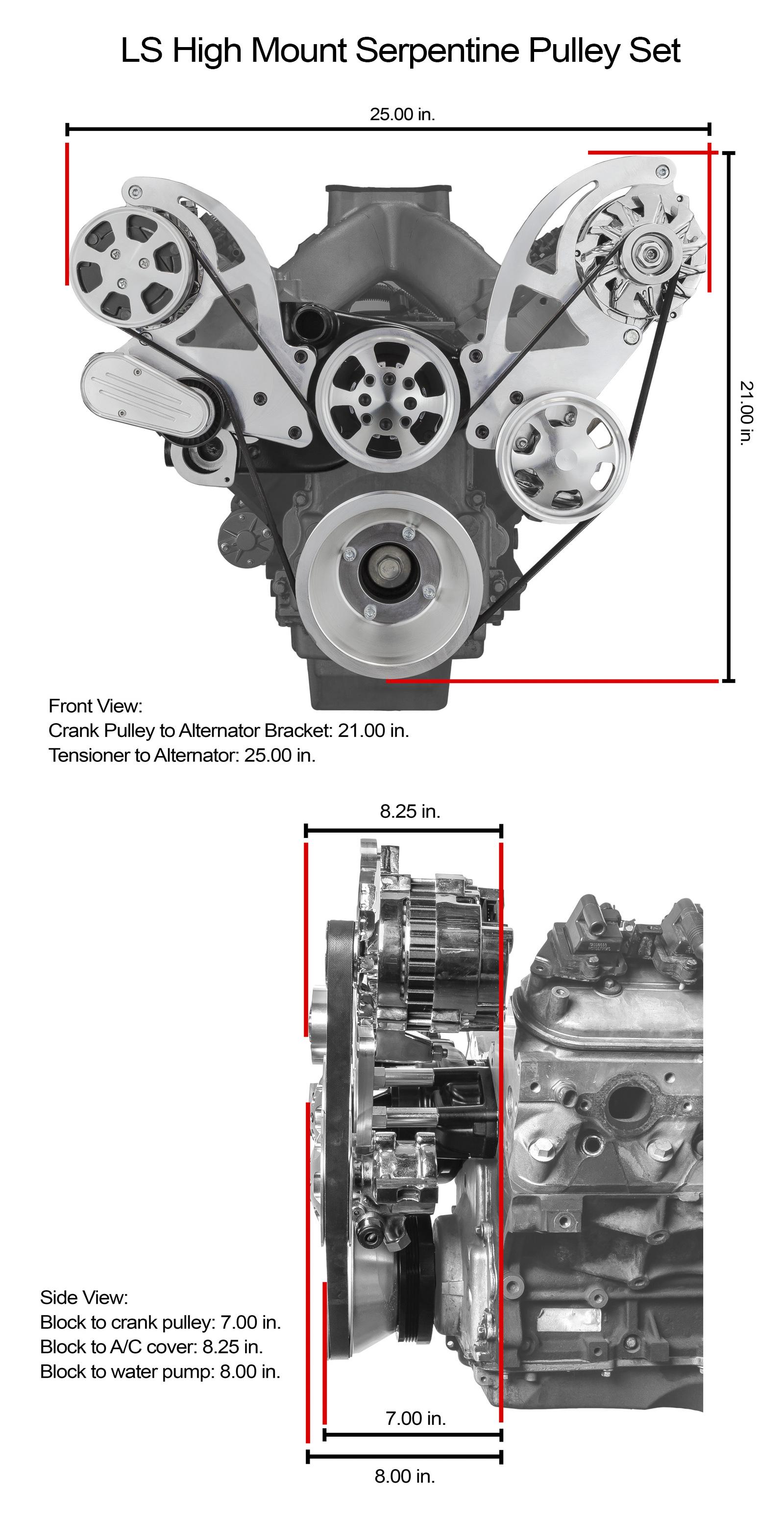 Chevy Gm Ls1 Ls2 Ls3 Ls6 Billet Aluminum Serpentine Pulley