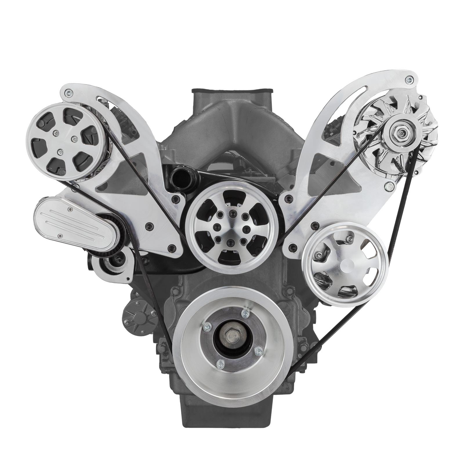 Chevy GM LS1 LS2 LS3 LS6 Billet Aluminum Serpentine Pulley Set & Components Kit