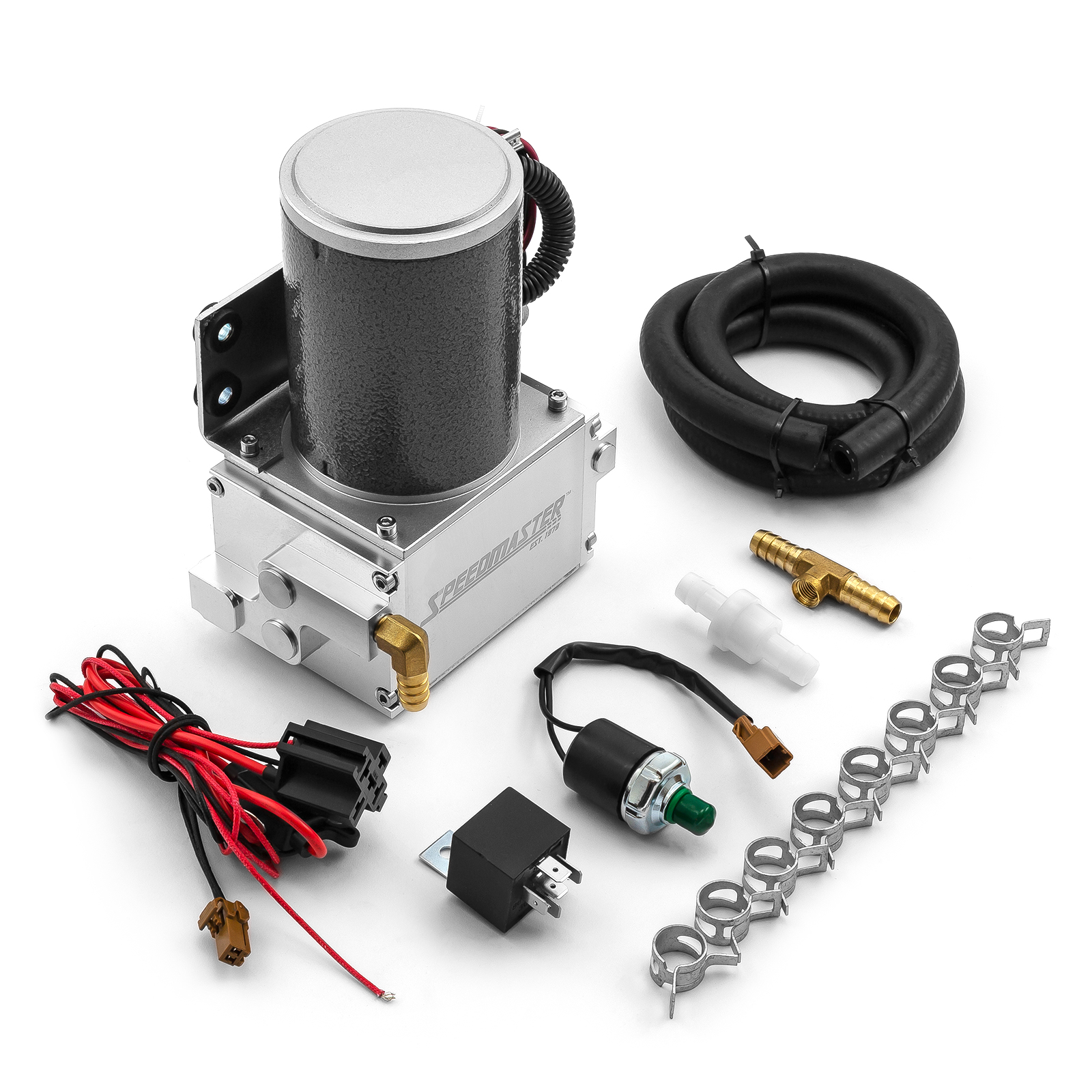 Universal Power Brake Booster 12V Electric Vacuum Pump Kit