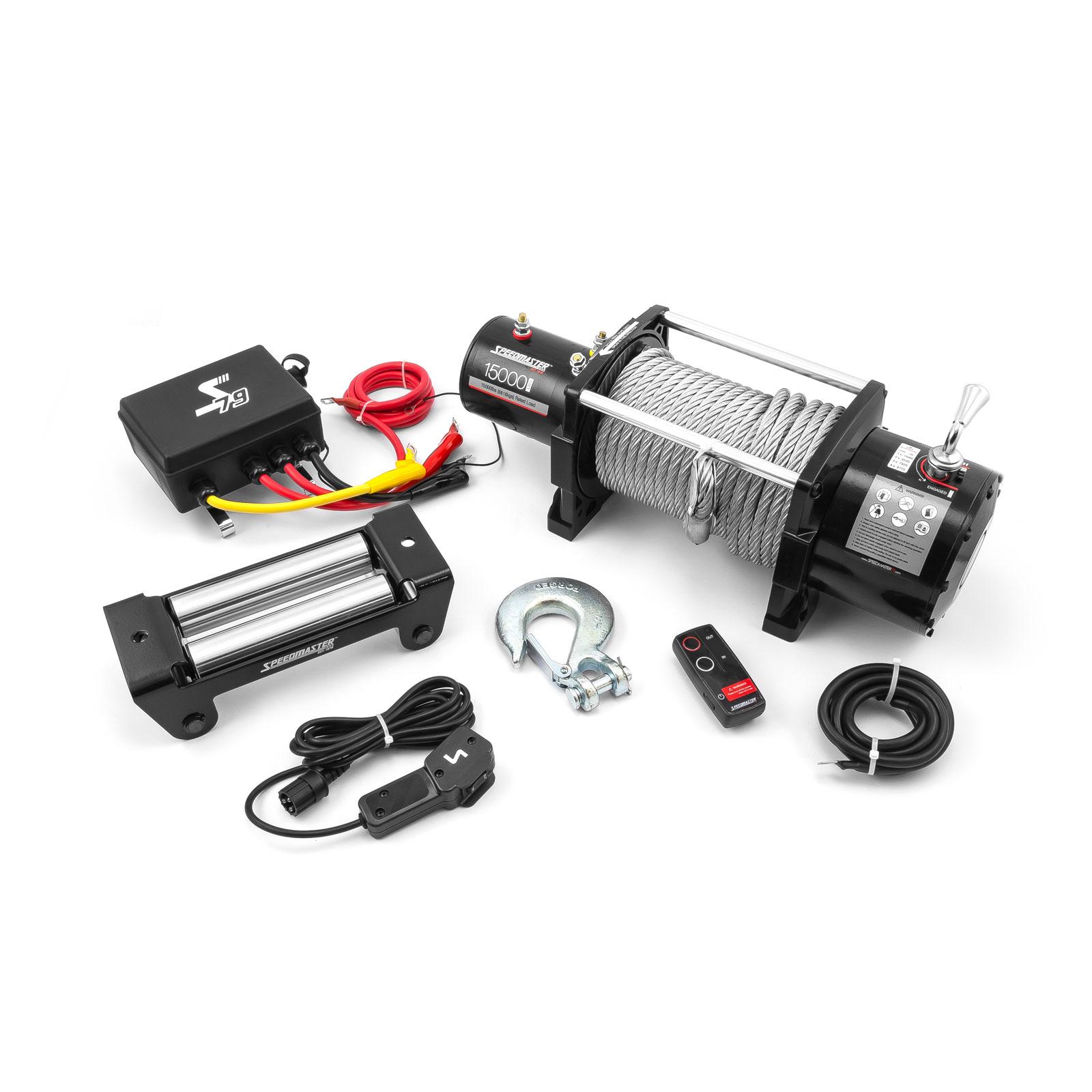 Speedmaster 15000lbs / 6803kgs 12V Electric 4wd Winch Kit w/ Wireless Remote