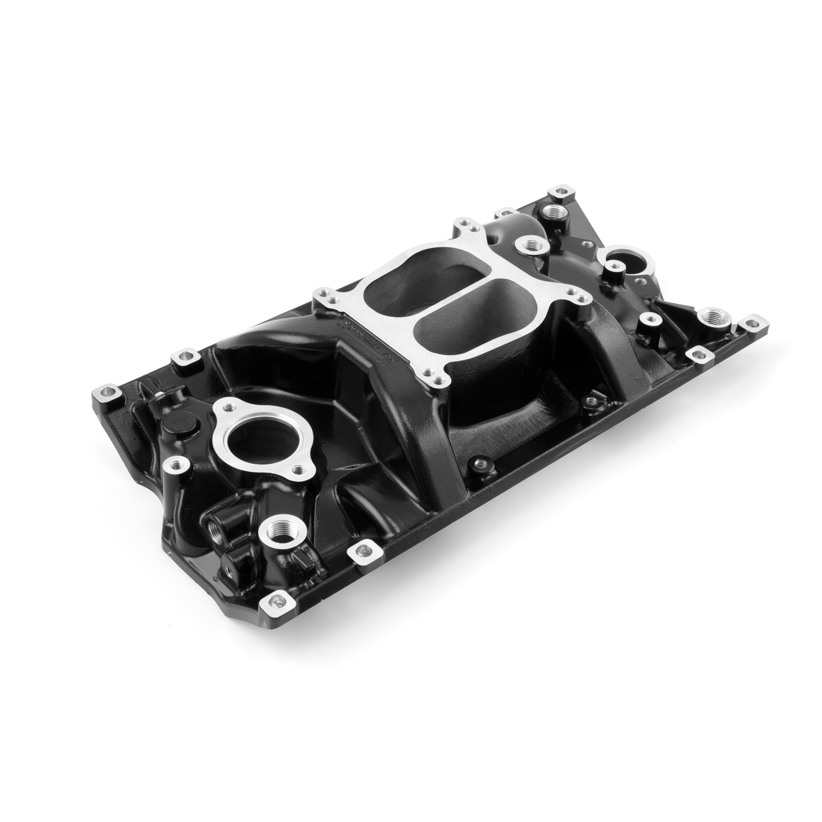 Chevy SBC 350 LowRise Vortec Intake Manifold Black