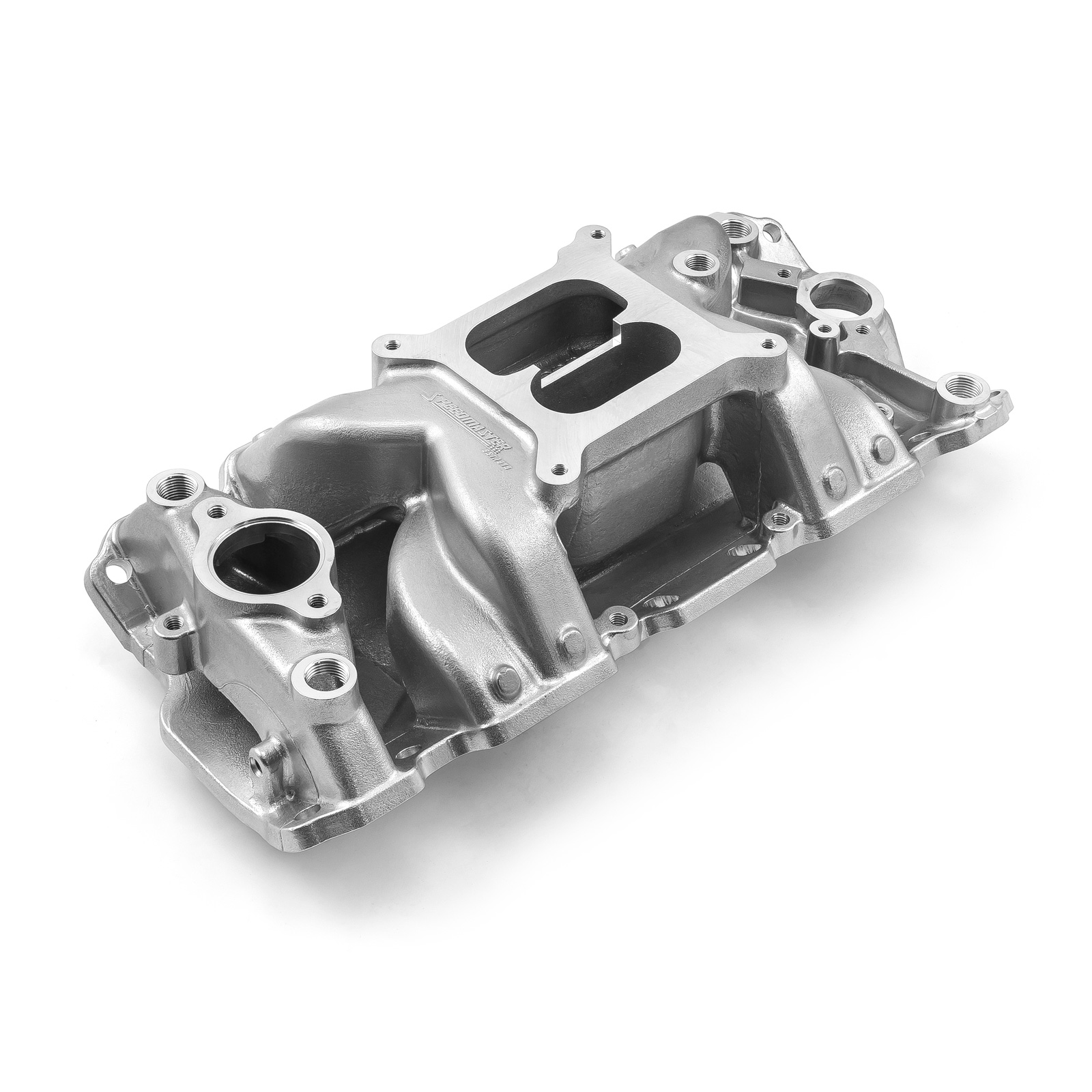 Chevy SBC 350 MidRise Air 1957-95 Intake Manifold Machine Polished