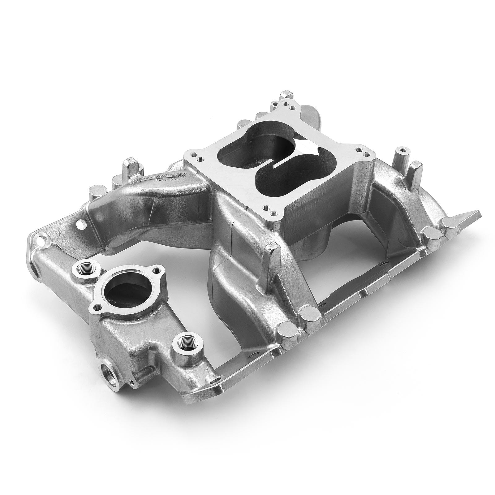 Pontiac 326 350 389 400 421 428 455 MidRise Air Intake Manifold Machine Polished