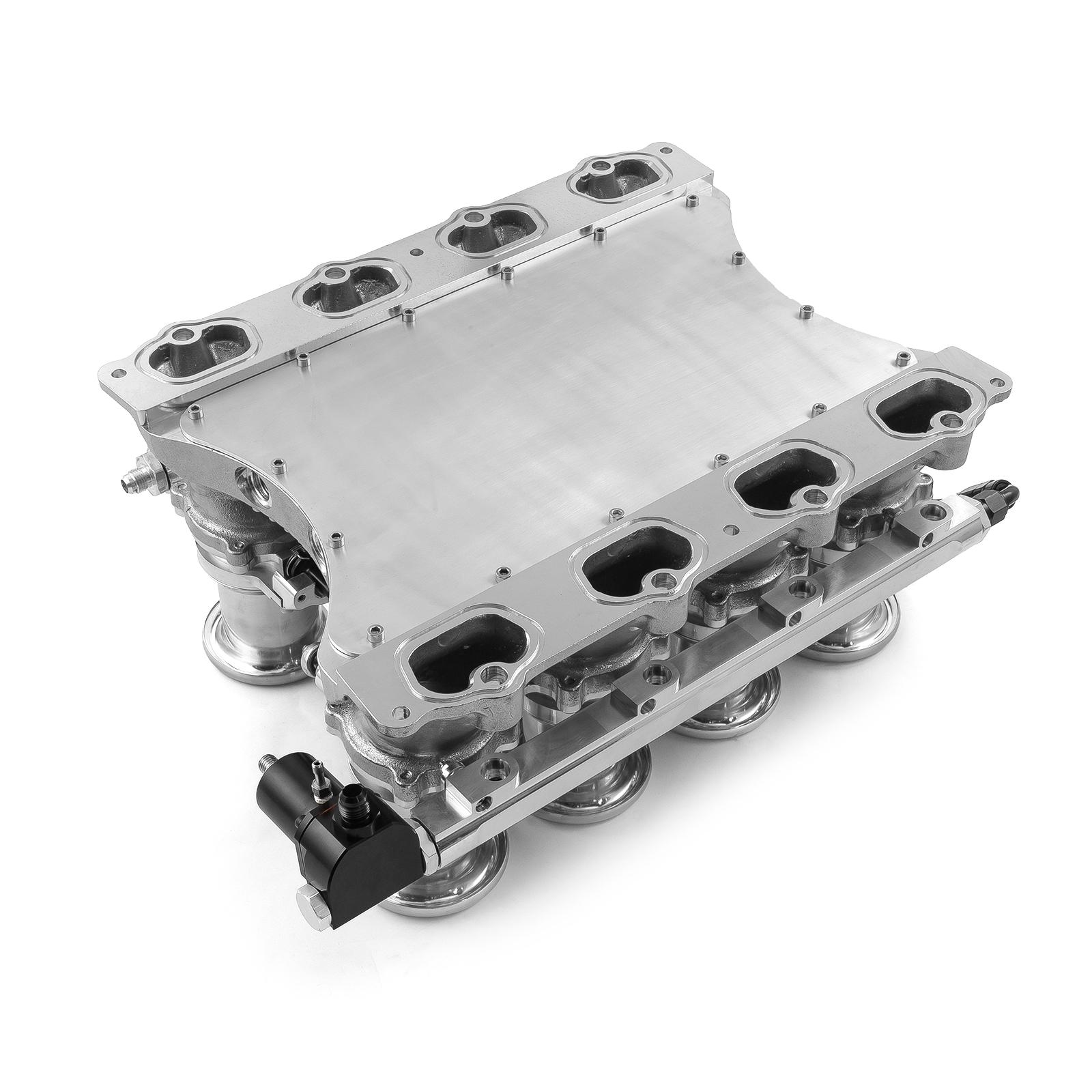 Speedmaster® 1-148-017 Ford Coyote Downdraft 8 Stack EFI Intake Manifold System Complete Polished