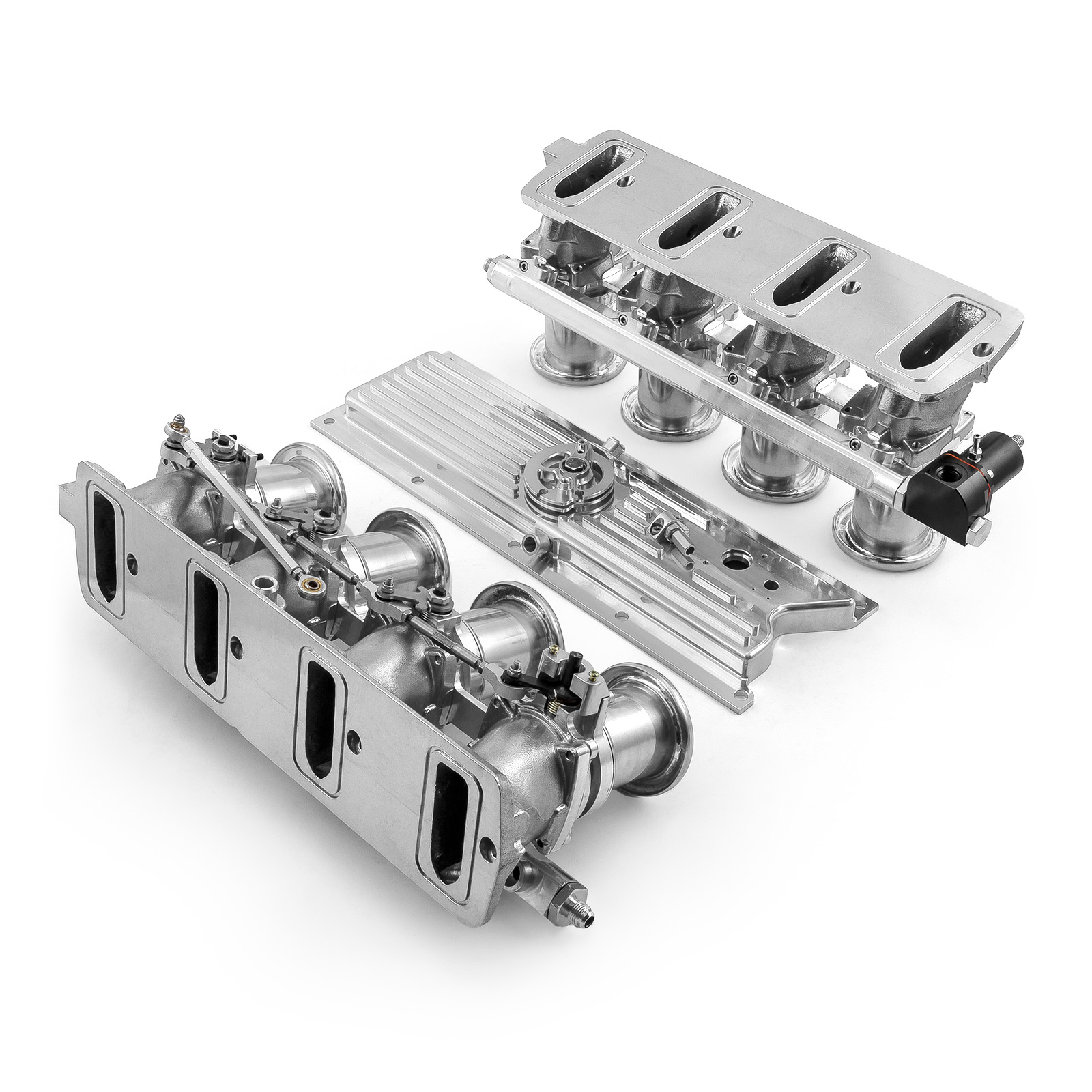 Fuel Injected Speedmaster 1-148-002 compatible with Chevy GM LS3 Downdraft EFI Stack Intake Manifold System Complete Polished Intake Manifolds