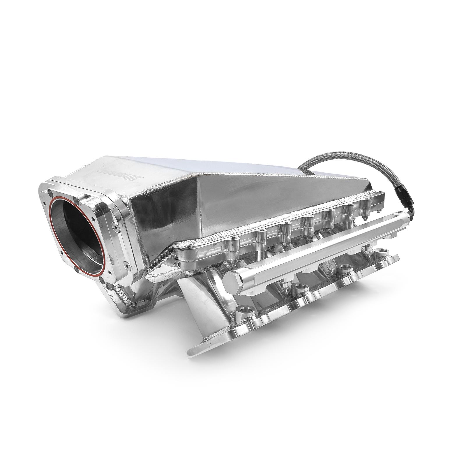 Speedmaster® 1-148-051-02 Chevy LS3 2pc Fabricated Ram Air 98mm 4 Bolt EFI Intake Manifold Black